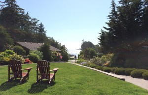 Crystal Cove Beach Resort, Tofino. Strandzugang