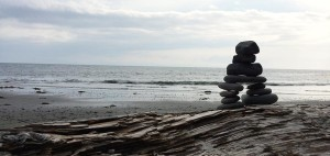 Inukshuk am French Beach